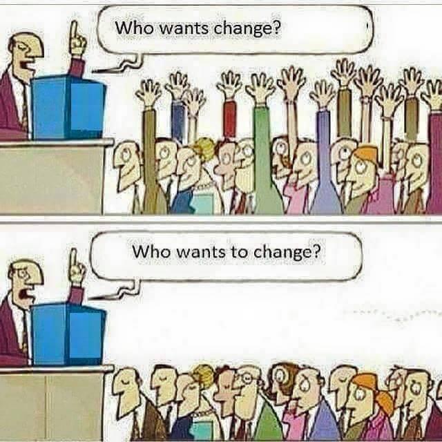 Chceš zmenu? Zmeníš sa?